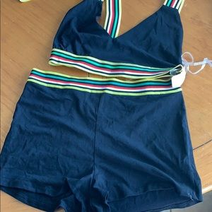 2 piece set bralette and shorts